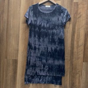 Tie Dye Tunic with High Slit